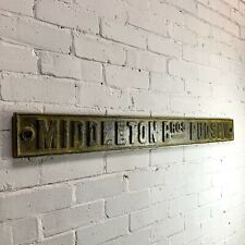 More details for antique cast iron middleton bros. pudsey sign