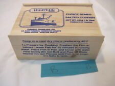 B OLD WOOD TRAWLER CHOICE BONED SALTED FISH  CRATE BOX