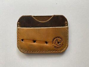 Baseball Glove Leather Wallet - 100% Handmade - bifold minimal