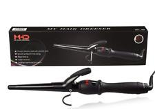 "MHD Hair Curler 1-1/2"" Ceramic Hair Wand Tapered LED Screen Curling Iron E6"