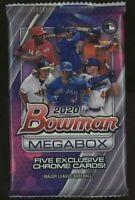 1 - 2020 Bowman Mega Box PACK - 5 Exclusive MOJO Chrome Cards Per Pack!