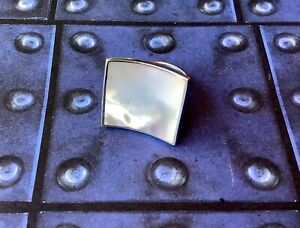 Artisan Modernist 925 Mother of Pearl MOP Pink Blush Ring Size 6.5