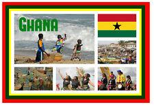 GHANA, WEST AFRICA - SOUVENIR NOVELTY FRIDGE MAGNET - SIGHTS - GIFT / XMAS - NEW