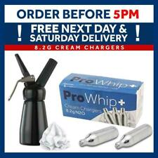 More details for cream chargers pro whip+ 8.2g cartridges + whippers bundle, foam & infuse isi