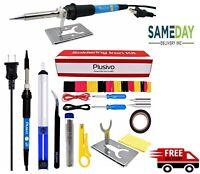 Soldering Iron Gun Kit Electrical Wire Tips Tool Set Solder Station 60W 110V