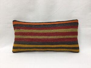 Thorow Cushions,8''x16'' Pillow,Decorative Pillows,Small,Striped Pillow,