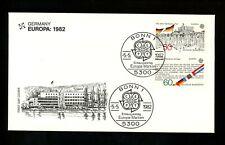 Postal History Germany Fdc #1372-1373 Europa Hambach Treaty of Rome flags 1982