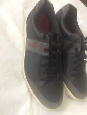 ECCO Men US11 / 45 Sneakers Golf Shoes Leather Blue Lace-Up