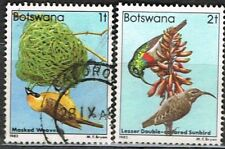 Botswana. 1982. Birds. 1f & 2f. Used. Weaver/Sunbird.