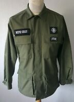 DOPECHEF D TOUR  KHAKI GREEN MILITARY STYLE SHIRT LONG SLEEVES 44 INCH CHEST
