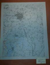 1946 US Army Map City Plan of Ichinomiya, Honshu, Japan 1:20,000