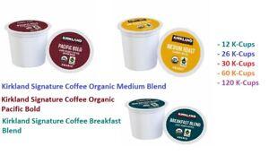 Kirkland Signature Organic Coffee Keurig K-Cups, Pacific Bold or Breakfast Blend