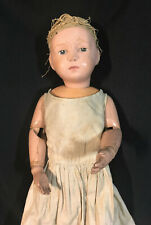 "Antique 1911 Schoenhut Doll  16""  Long Dress & Head Bonnet * Looks All Original"