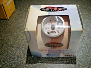 """2"""" 52mm Car Turbo Boost Gauge  0-20Psi & 0-30in Hg White Dial with Red Pointer"""
