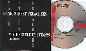 Manic Street Preachers CD-MAXI MOTORCYCLE EMPTINESS   ©   1992 PROMO  1 TRACK
