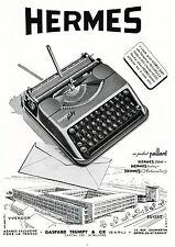 ▬► PUBLICITE ADVERTISING AD HERMES Hermès Baby 2000 machine à écrire 1954