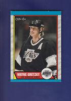Wayne Gretzky HOF 1989-90 O-PEE-CHEE OPC Hockey #156 (NM+) Los Angeles Kings