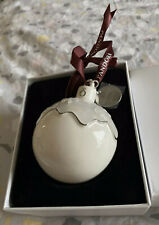 Pandora Porcelain Christmas Pudding Tree Ornament Bauble, New In Box, 2018