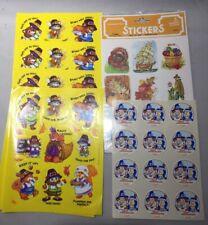 Vintage Hallmark Trend & Other Sticker Stickers Lot Sheets Thanksgiving