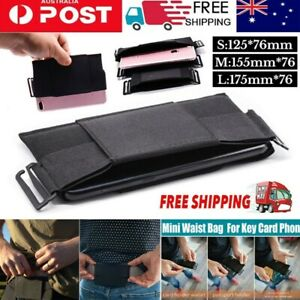 Unisex Minimalist Invisible Wallet Waist Bag Mini Pouch for Key Card Phone Sport