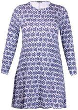 Vestiti da donna Stretch Blu Floreale