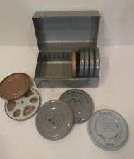 Brumberger 8mm Film Case with 9 Canisters Reel Chest Compco Cans Case holds 12