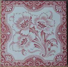ALFRED MEAKIN - ANTIQUE VICTORIAN MAJOLICA TILE C1900
