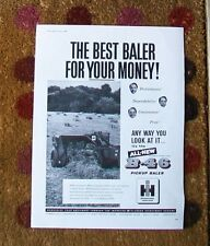 INTERNATIONAL HARVESTER B-46 PICK UP BALER  ADVERT THE FIELD 1960 McCORMICK