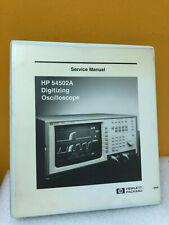 Hp / Agilent 54502-90903 Hp 54502A Digitizing Oscilloscope Service Manual