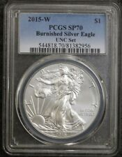 2015 $1 W Burnished Silver Eagle ANNUAL DOLLAR UNC SET PCGS SP70 MS70 - RARE