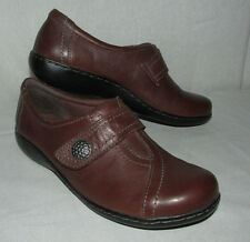 """Clarks Bendables """"Narrative Ashland Swing"""" Brown Genuine Leather Sz 7.5M Loafers"""