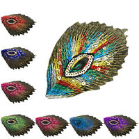 1 pcs Feather applique embroidery Applique Patch Iron on Sew Clothes Decor NewFG