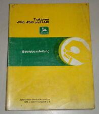 Betriebsanleitung / Handbuch John Deere Traktor 4040 / 4240 und 4440