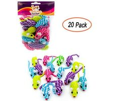 20 Cotton Colorful Rope Cat Toy Mice Rattle Sound, Interactive Catch Play Teaser