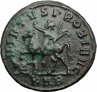 PROBUS  on horse 277AD Authentic Ancient Roman Coin 'PERPETVO' Rare  i55316