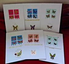 NOTELETS/GREETING CARDS. HAND MADE. INSERTS & ENVELOPES INCLUDED.- BUTTERFLIES