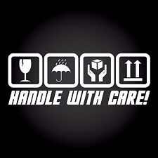 Handle With Care! Auto Aufkleber Sticker Decal JDM OEM DUB Shocker 20,0 x 7,2 cm
