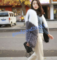 Chic Fashion Womens Genuine Real Fox Fur Vest Gilet Jacket Coat Outwear Coat New