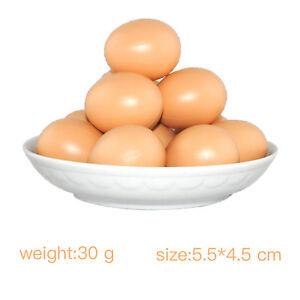3 Fake Dummy Egg Hen Poultry Chicken Joke Prank Plastic Eggs Party Decor #LA