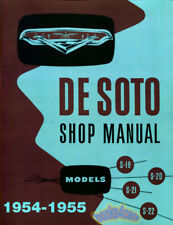 SHOP MANUAL DESOTO SERVICE REPAIR 1954-1955 BOOK DE SOTO WORKSHOP RESTORATION