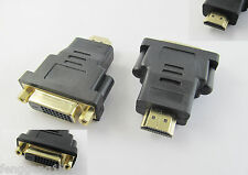 HDMI Male Plug to DVI-D 24+1 Female Jack DVI Adapter Converter M-F Gold Plated