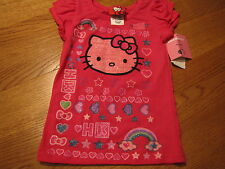 Girls youth Hello Kitty shirt HK53125 Cer pink 4 NWT^^