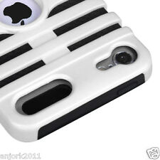 Apple iPod Touch 5 Mic Dual Layer Hybrid Case Skin Cover Accessory White Black
