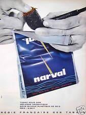 PUBLICITÉ PRESSE 1964 NARVAL TABAC POUR PIPE MÉLANGE AROMATIQUE RÉGIE FRANÇAISE