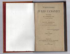 praeletionis juris canonici quas habebat m.bargilliat  1915