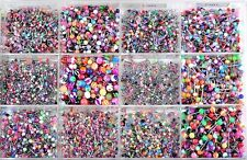 120pcs Wholesale Lot Mix 12Styles Color body Jewelry Tragus Labret Bar Lip Rings