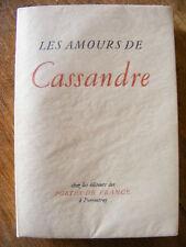 Ronsard Les Amours de Marie II Livre  numéroté vélin Portes de France 1945