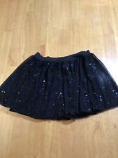 Capezio Girls Dance Skirt, Size Large, Black With Sequins
