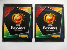 football stickers 2 unopened packets of panini Euro 2004