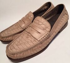 "COLE HAAN Mens 10 M Shoe Tan ""Air Tremont Penny"" NEW ($228) Woven Slip On"